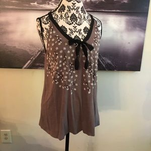 MOVING SALE Free People ribbon beaded floral tank